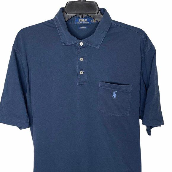 Polo Ralph Lauren Navy Blue T-Shirt Polo Shirt XL
